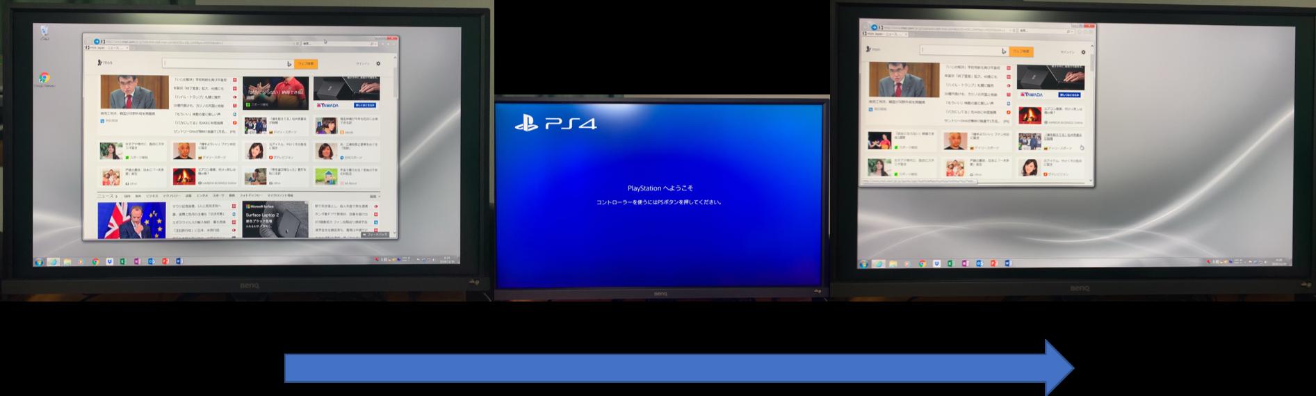 Monitor表示変化