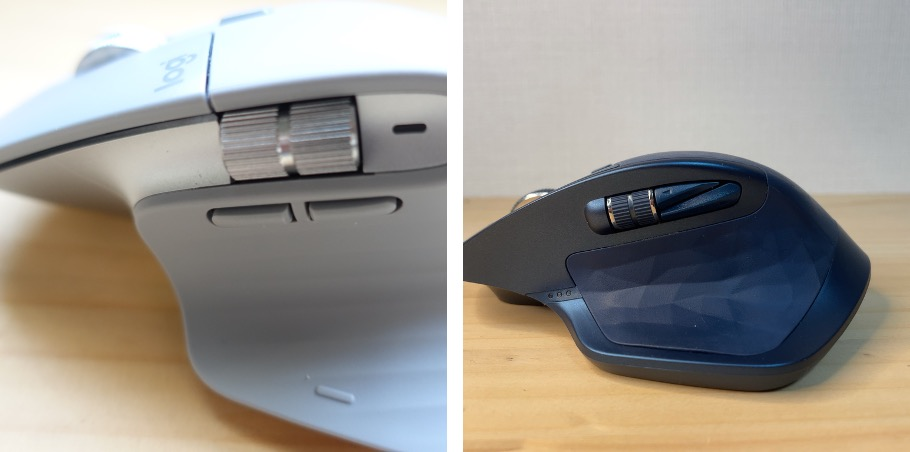 MXmaster3と2 側面比較